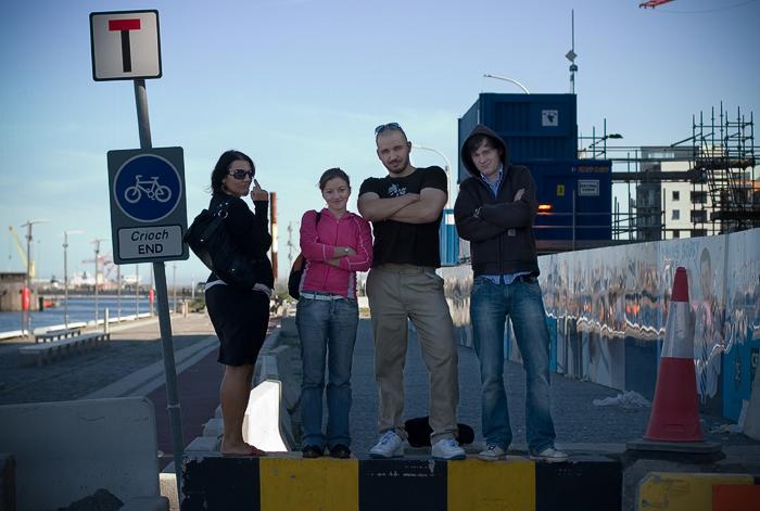 Radka, Lenka, me & Chris