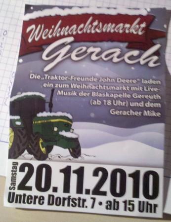 Weihnachtsmarkt Gerach Flyer