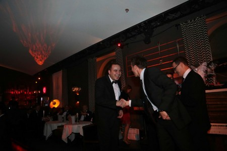 Me receiving an award during Capgemini Consulting's Christmas party